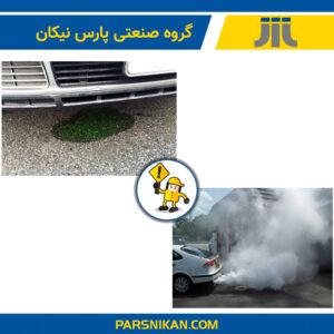 علائم کنترل مایع خنک کننده خودرو